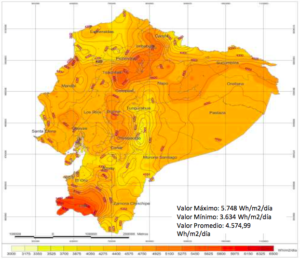 Ecuador Solar Radiation map