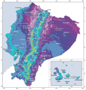 Ecuador Wind Map 80 meters. Source: Ministerio de Electricidad y Energias Renovables