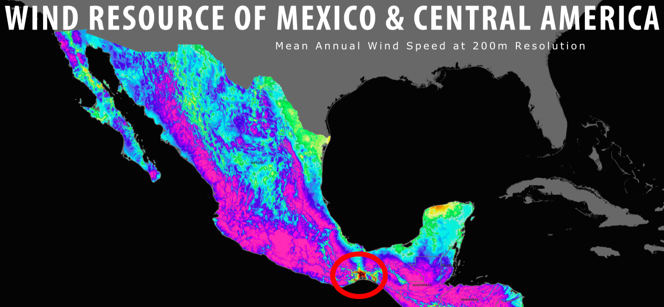 wind resource wind map mexico and central america aws truepower